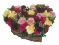 Dear Mom - Heart-Shaped Flower Basket